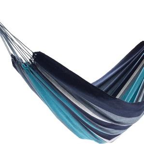 RESTPOSTEN: JOBEK Pantanal Tuchhängematte, Streifen blau, recycelte Baumwolle, 200x125cm