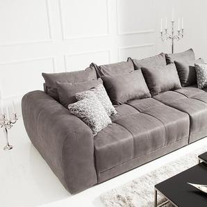 Modernes XXL Sofa GIANT LOUNGE 300cm dunkelgrau inkl. Kissen