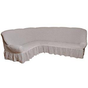 Bezug für Ecksofa 2er + 3er Eckcouch Sofabezug Husse in 7 Farben (Variante A, weiß) / Sofahussen für Ecksofa / Sofahusse Eckcouch / Sofahusse Ecksofa