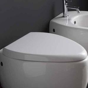 Scarabeo Moai WC-Sitz mit Absenkautomatik, weiß, 8609/B01