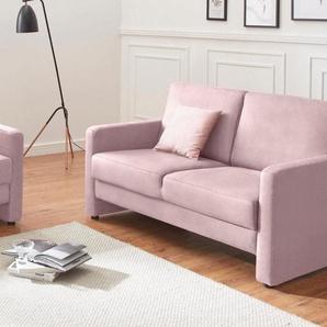 DOMO collection 2-Sitzer, rosa, Luxus-Microfaser 1