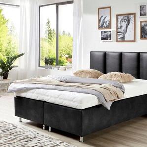 Westfalia Schlafkomfort Boxspringbett in diversen Ausführungen, schwarz
