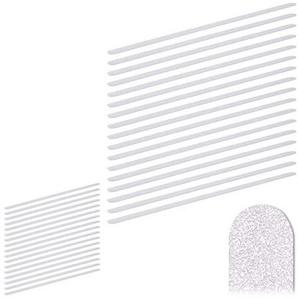 Relaxdays Anti Rutsch Streifen Set, 60 cm lang, Kunststoff, für Dusche, Treppe, Anti-Rutsch-Sticker, transparent (34er Set)