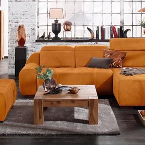 Premium Collection By Home Affaire Ecksofa »Spirit« ohne Bettfunktion, gelb, komfortabler Federkern, hoher Sitzkomfort