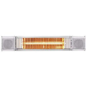 Terrassenstrahler  Heizstrahler mit Bluetooth Lautsprechern und farbigen Backlight (Weiß)