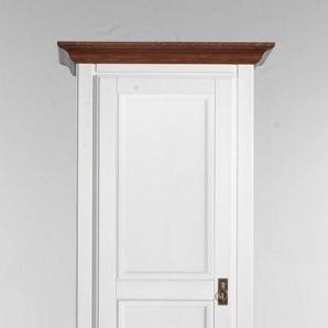 Hochschrank PORTO  Farbe Weiß Pinie Massivholz Breite 74 cm