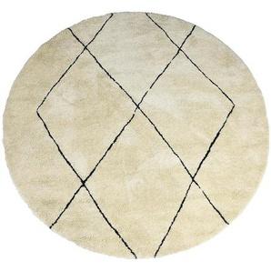 Teppich grafisch, D:160cm, hellbeige