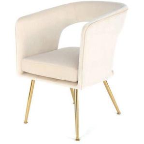 Stuhl JOLENE Polyester beige KAYOOM GMB WZ5F6 (LBH 63x57x81 cm) Kayoom GmbH