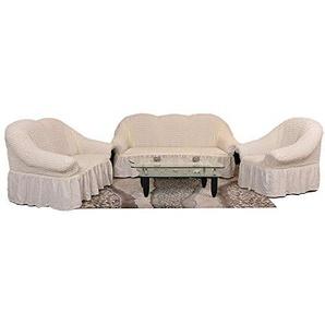 Sultan Palace Stretch Sofabezüge 1er+2er+3er in Creme (Sofabezuege Set, Sofabezug) / Sofabezug Husse/Sofahusse/Sofabezug Set/Sofabezuege IKEA/Sofabezug IKEA/Sofabezug modern/Sofahusse Baumwolle