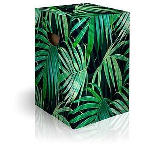 murando Papphocker Motiv Blätter 45x30x30 cm faltbar Papier Hocker ergonomischer Karton Photohocker Falthocker b-C-0271-ap-a