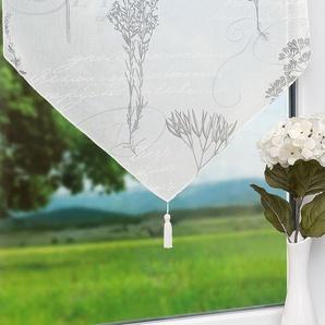 Scheibengardine von LYSEL® Botanik (Bx H) 60cm * 180cm grau/taupe
