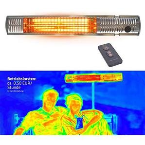 Gardigo Infrarotstrahler Terrassenstrahler Wärmestrahler | Mit Fernbedienung, 2000 W | Kurzwellen wärmen gezielt Menschen, mit Goldröhre - Energiesparend, Keine Vorheizzeit | Deutscher Hersteller