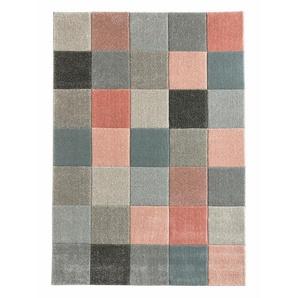 Teppich dekorativen Kästchenmuster, rose, Gr. 160/230 cm,  home, Material: Polypropylen