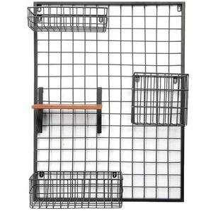 Memoboard aus Metall, 60x79x3cm, schwarz