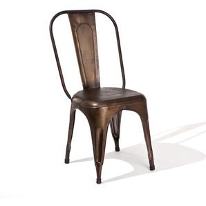 Metallstuhl in Rostfarben Industriedesign (4er Set)