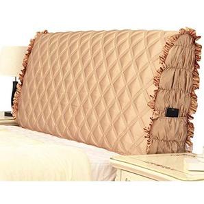 Baumwolle Koreanische Stil Kopfteil Abdeckung Gesteppte Rückenlehne Staubdicht Cover Protector Nachttischbezug Waschbar Tagesdecken,Coffee-200 * 60cm
