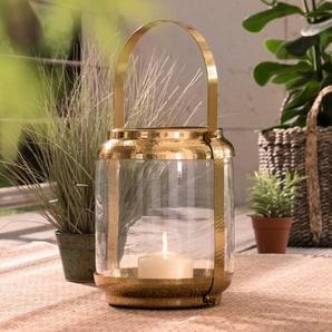 Windlicht ,Gold ,Glas