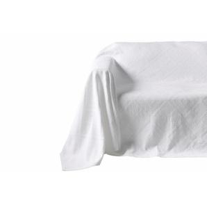 Sofaüberwurf mit Hoch-/Tief-Struktur, weiß, Gr. 160/270 cm, PEREIRA DA CUNHA, 100% Baumwolle