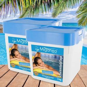 Miganeo® Chlorgranulat, 2 x 5 kg für Pool, pH-neutral
