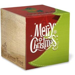 ecocube Holzwürfel - Weihnachtsbaum Merry Christmas (Fichte)