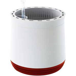 Airy Pot - Luftreiniger Blumentopf für saubere Raumluft - rund - 1600 ml - 27 cm hoch - weiß/rot
