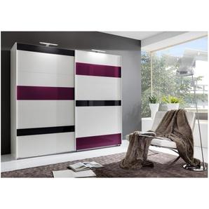 JUSTyou Clamer Schwebetürenschrank Kleiderschrank Garderobe Garderobensetnschrank Schlafzimmer Weiß|Grau|Violett