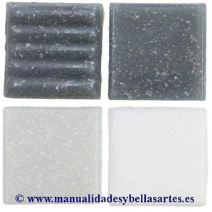 MosaixPro 200 g 20 x 20 x 4 mm 63-Piece Glas Fliesen, grau Mix