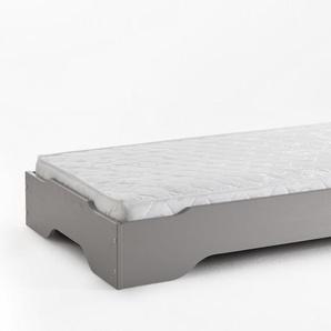 STAPELBETT 100x200 Kiefer Taupe grau + TFK Matratze