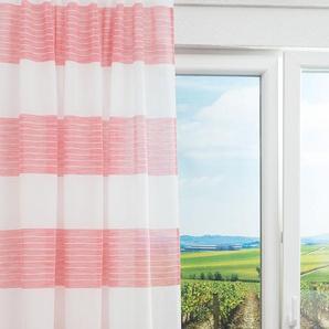 Vorhang von LYSEL® Drelona Gestreift in den Maßen Breite: 142cm Höhe: 245cm in Rosa