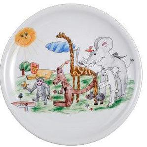 Seltmann Weiden 001.034580 Compact - Zoo - Speiseteller/Essteller - Ø 25 cm - Fahne - Porzellan