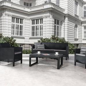 BEST Loungeset »Amalfi«, 9-tlg., 2 Sessel, 3er-Sofa, Tisch 116x72 cm, Kunststoff
