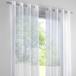 Dekostore gemustert, weiß, Gr. 245/140 cm,  home, Material: Polyester