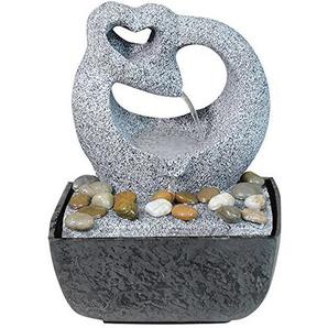 Zimmer-Brunnen Set mit Stromstecker und Pumpe Herz Skulptur