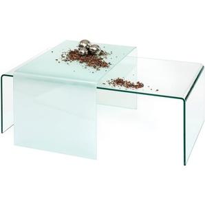 Inosign Couchtisch, transparent, pflegeleichte Oberfläche