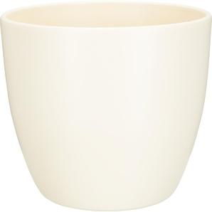 Übertopf Madrid Keramik cremeweiß Ø 25 cm