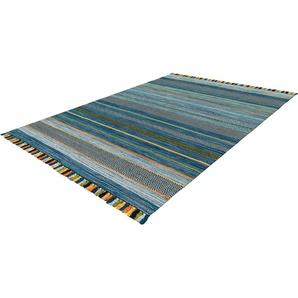 Calo-deluxe Teppich  »Mabelene 2906«, 70x130 cm, 8 mm Gesamthöhe, blau