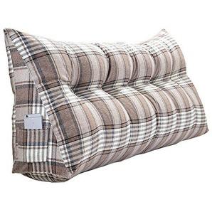 Kopfstütze am Bett, Doppelmatratze Kissen, weiche Tasche Dreieck großes Rücksofa 6 Größen, 4 Farben. (Farbe : 01, größe : 70cm (2 Buckles))