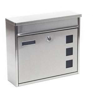 Briefkasten Postkasten Edelstahl Wandbriefkasten Mailbox Design V12 - WILTEC