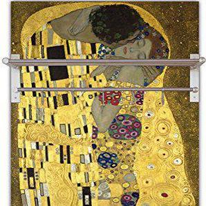 Artland Qualitätsmöbel I Garderobe mit Hutablage 60 x 120 cm Menschen Paar Malerei Gelb F3TR der Kuß