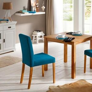 Home affaire Essgruppe (3-tlg.), aus massiver Eiche, blau