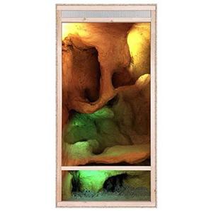 Repiterra Hoch-Terrarium aus Holz 60cmx120cmx60cm mit Frontbelüftung aus OSB Platten mit Floatglas