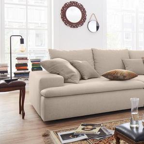Nova Via Big-Sofa, grau, Inkl. Zierkissen, hoher Sitzkomfort