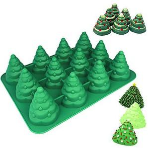 JUSTDOLIFE Kuchenform Wiederverwendbare Silikon Weihnachtsbaum Form Backform für Zuhause