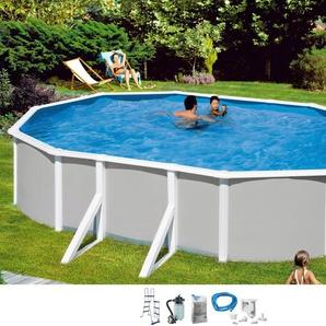 Mypool Set (5-tlg.): »Ovalpool Grau 132 cm Tiefe« (in 3 Größen)