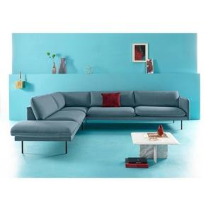 Inosign Ecksofa »Levon«, blau, Ottomane links, B/H/T: 302x45x60cm, hoher Sitzkomfort