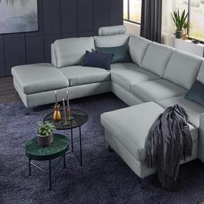 Set One By Musterring Wohn-Landschaft »SO 1100«, grau, B/H/T: 334x45x53cm, 5 Jahre Hersteller-Garantie, hoher Sitzkomfort