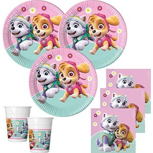 36 Teile Pink Paw Patrol Party Deko Set 8 Kinder
