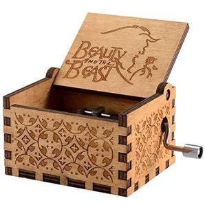 MINSOTO Holz Antik Mini Spieluhr Holzskulptur Handwerk Film Thema Geburtstagsgeschenk
