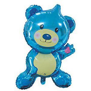 Folienballon XXL zur Geburt / Motiv und Farbe wählbar / Geburt / Baby /, Folienballons Geburt:Teddybär blau