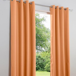 Dekoschal unifarben, orange, Gr. 225/135 cm,  home, Material: Polyester